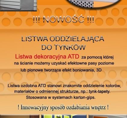 LISTWA ATD DO WNĘTRZ
