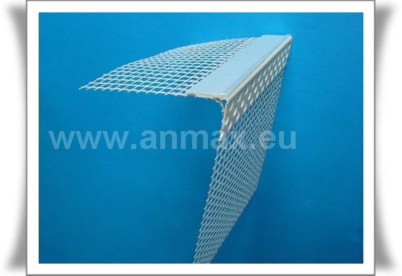 Profil podparapetowy PVC z siatką
