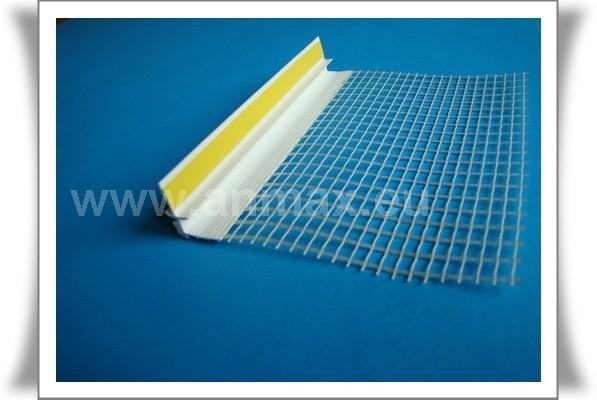 listwa przyokienna PVC z siatką
