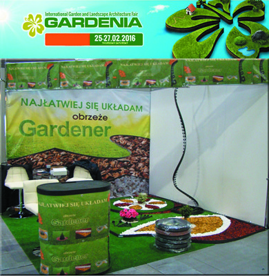 Flexible border for gardens GARDENER 10 m in 1 pc.